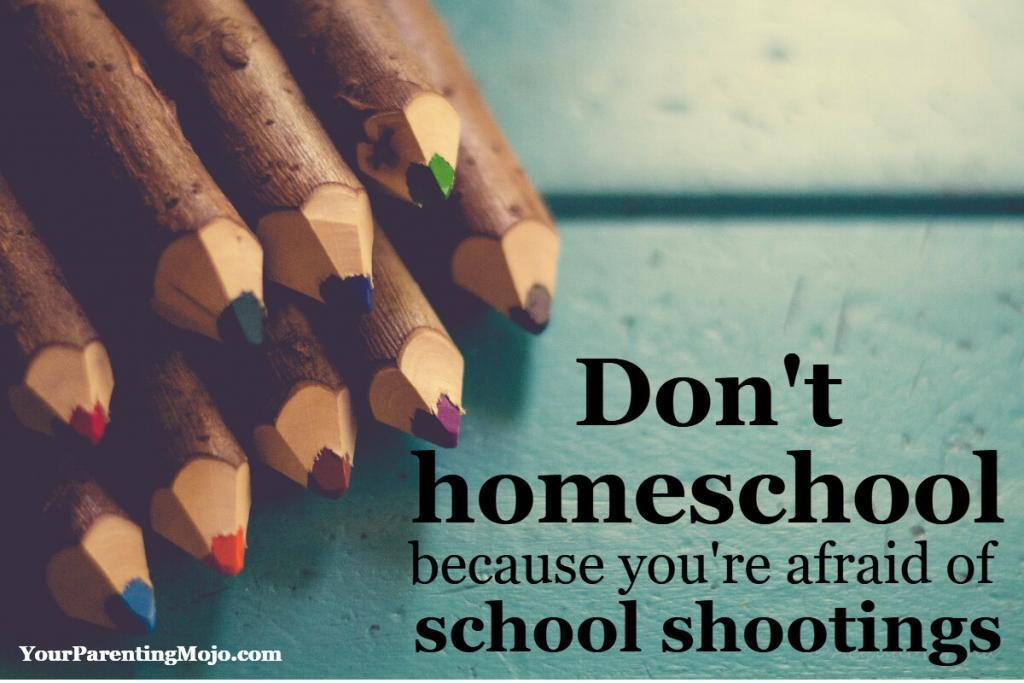 Don't homeschool because youre afraid of school shootings
